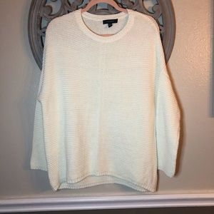 Atmosphere off white cream Dolman sleeve sweater